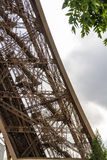 Underside of the Eiffel Tower Royalty Free Stock Photography
