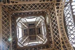 Underside of the Eiffel Tower Stock Photos