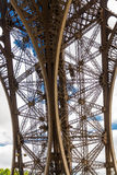 Underside of the Eiffel Tower Stock Images