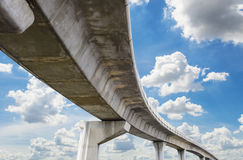 Underside of an elevated roads Stock Photos