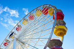 Underside of Ferris Wheel Stock Photography