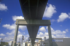 Underside of Freeway, Indianapolis, Indiana Royalty Free Stock Photography