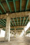 Underside of highway Royalty Free Stock Photo