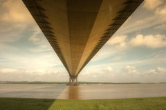 Underside of the Humber Bridge. Stock Image