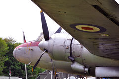 Underside of old aircraft. Underside of old british aircraft taken at flixton air museum Stock Photos