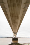 Underside of the older Severn Crossing, suspension bridge connec Royalty Free Stock Image