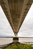 Underside of the older Severn Crossing, suspension bridge connec Stock Images