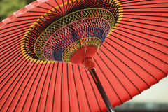 Underside of Red Parasol Stock Images