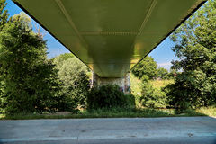 Underside of the Rhine bridge at Breisach Stock Photos