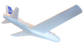 Underside of a Styrofoam Airplane Model Stock Image