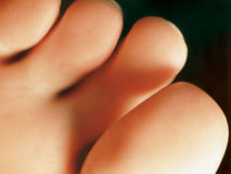 Underside of the toes Stock Photos