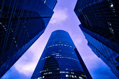 Underside view to new business center royalty free stock photo