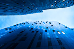 Underside view to new skyscraper Stock Photography