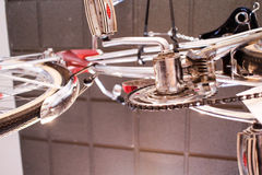 Underside of a vintage bicycle Stock Photo