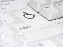 understött tangentbord Arkivfoto
