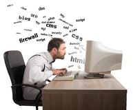 Understanding internet terms Stock Photo