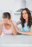 Understanding woman comforting her overwhelmed friend Royalty Free Stock Image