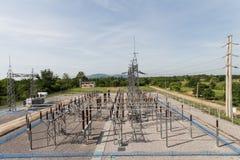 Understation 115/22 kV utomhus- typ Royaltyfri Foto
