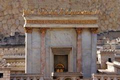 Understödja tempelet. Modellera av den forntida Jerusalem. Arkivfoton
