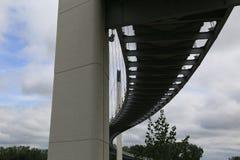 Undersurface of Bob Kerrey foot bridge Omaha Nebraska USA stock photo