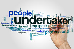 Undertaker word cloud. Concept on grey background Royalty Free Stock Image