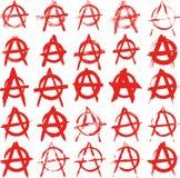 Underteckna anarki Arkivbild