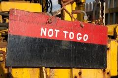 Underteckna, att inte gå. Royaltyfri Fotografi