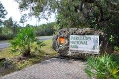 Underteckna av Evergladesnationalpark Royaltyfri Fotografi
