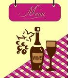 Underteckna den burgundy menycellen. Vektor Royaltyfria Bilder