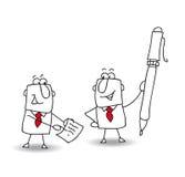 underteckna ett avtal royaltyfri illustrationer