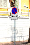 Underteckna ingen parkering Arkivbild