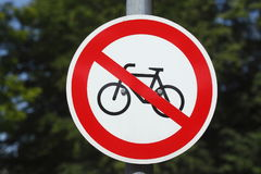 Underteckna ingen parkeringscykel Fotografering för Bildbyråer