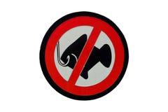 Underteckna inget fiske arkivfoton