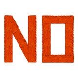 Underteckna inget gjorde av tegelstenar fotografering för bildbyråer