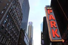 Parkeringsplats i New York Royaltyfria Bilder
