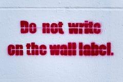 Underteckna på väggen Fotografering för Bildbyråer