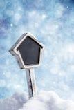 Underteckna in snön Royaltyfri Foto