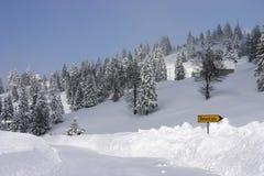 underteckna snow Royaltyfri Fotografi