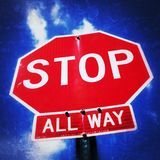 underteckna stoppet Royaltyfri Fotografi