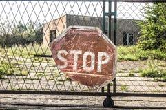 underteckna stoppet Arkivbild