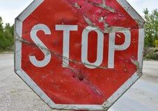 underteckna stoppet Arkivfoto