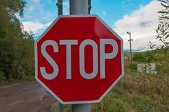 underteckna stoppet royaltyfria bilder