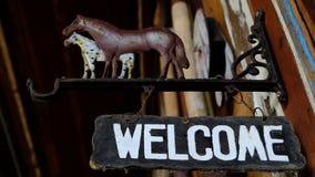 underteckna välkomnandet Arkivbilder