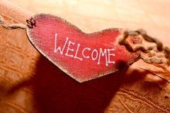underteckna välkomnandet Royaltyfri Fotografi