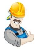 underteckna vektorn arbetare stock illustrationer