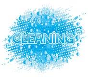 underteckna vektorn cleaning Arkivfoto