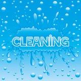 underteckna vektorn cleaning Royaltyfri Fotografi