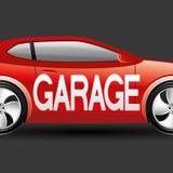 underteckna vektorn garage Arkivfoton