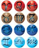 underteckna zodiac vektor illustrationer
