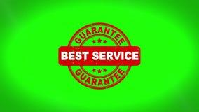 Undertecknad bästa service stämpla textträstämpelanimering royaltyfri illustrationer